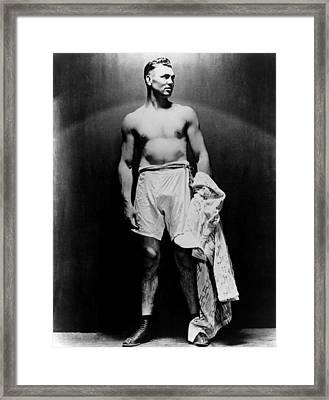 Jack Dempsey, Circa 1920s Framed Print by Everett