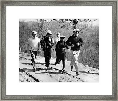 Jack Dempsey Trains In North Carolina Framed Print by Everett