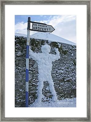 Jack Frost Got Lost Framed Print by Laura Horgan