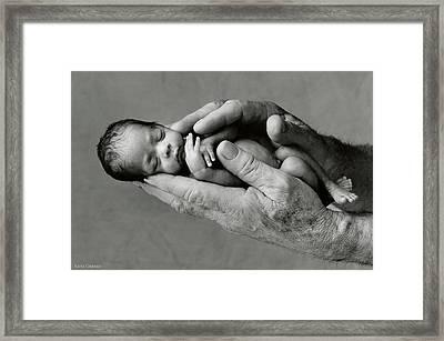 Jack Holding Maneesha Framed Print by Anne Geddes