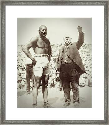 Jack Johnson - Heavyweight Boxing Champion  1908 - 1915 Framed Print by Daniel Hagerman