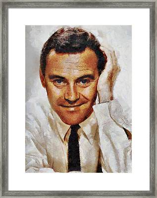 Jack Lemmon Hollywood Actor Framed Print by John Springfield