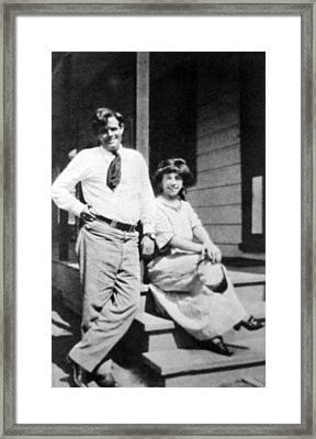 Jack London 1876-1916, American Author Framed Print by Everett