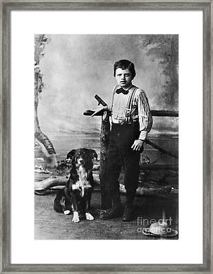 Jack London (1876-1916) Framed Print by Granger