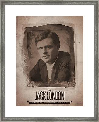 Jack London Framed Print