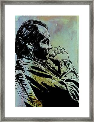 Jack Nicholson Framed Print by Giuseppe Cristiano