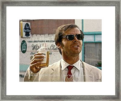 Jack Nicholson, Here's To First Of The Day Fellas, And To Ol D. H. Lawrence . ' Framed Print by Thomas Pollart