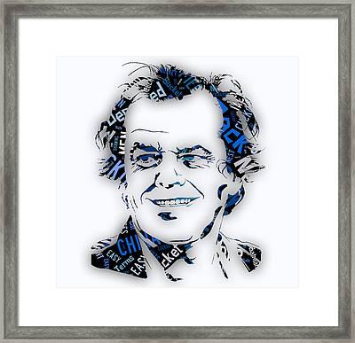 Jack Nicholson Movie Titles Framed Print by Marvin Blaine