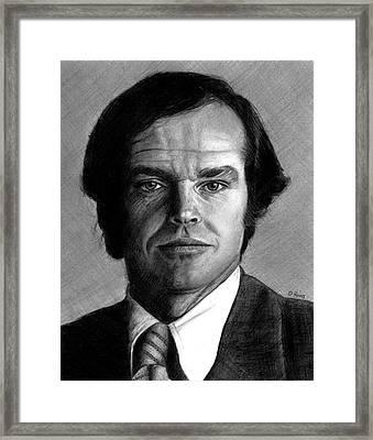 Jack Nicholson Portrait Framed Print