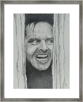 Jack Nicholson Framed Print by Stephen Sookoo