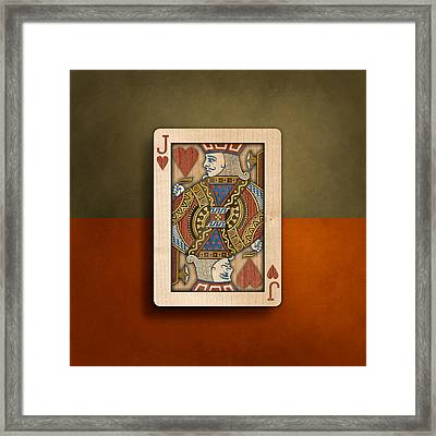 Jack Of Hearts In Wood Framed Print by YoPedro