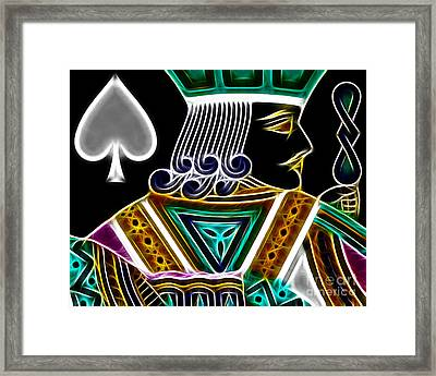 Jack Of Spades - V4 Framed Print by Wingsdomain Art and Photography