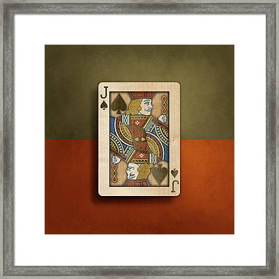 Jack Of Spades In Wood Framed Print by YoPedro