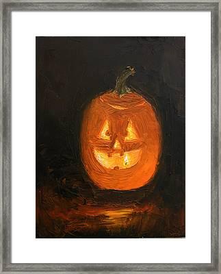 Jack O'lantern Framed Print by Heather Olsen