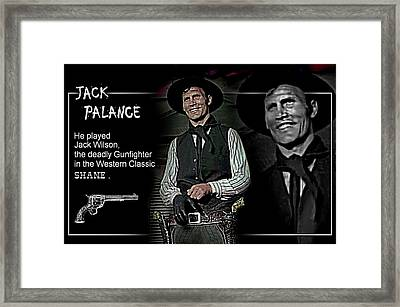 Jack  Palance Framed Print