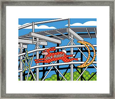 Jack Rabbit Framed Print by Ron Magnes
