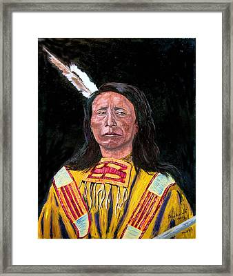 Jack Red Cloud Framed Print by Stan Hamilton