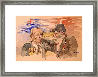 Framed Print featuring the painting Jack Ryan And Hyseyin Kacmaz by Ray Agius