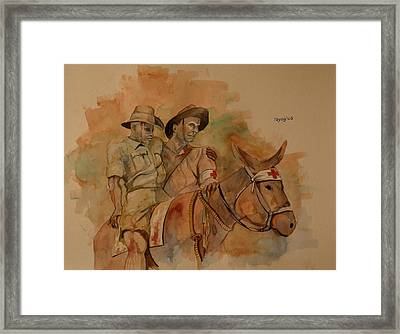 Framed Print featuring the painting Jack Simpson And Duffy by Ray Agius