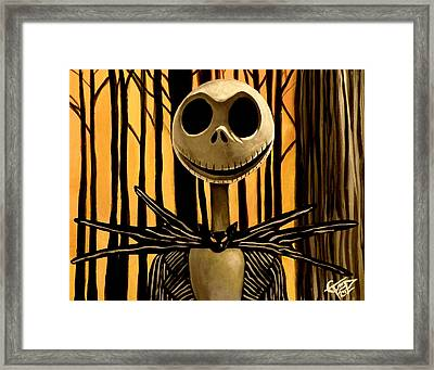 Jack Skelington Framed Print by Tom Carlton