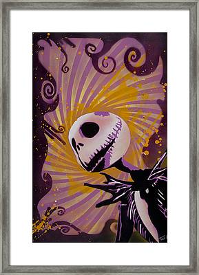 Jack Skellington Framed Print by Tai Taeoalii
