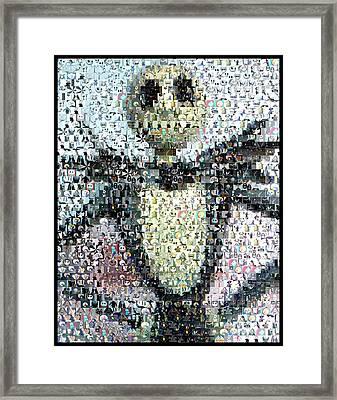 Jack Skellington Mosaic Framed Print by Paul Van Scott