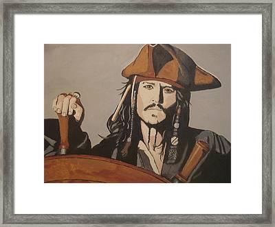 Jack Sparrow Framed Print by Bob Gregory