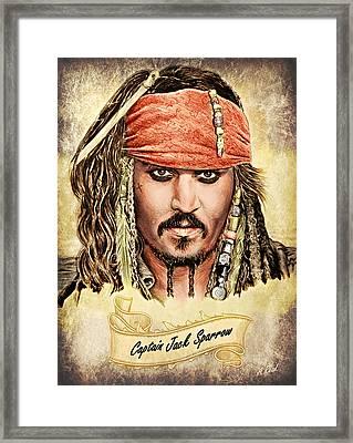 Jack Sparrow Colour 1 Framed Print