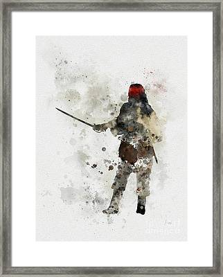 Jack Sparrow Framed Print by Rebecca Jenkins