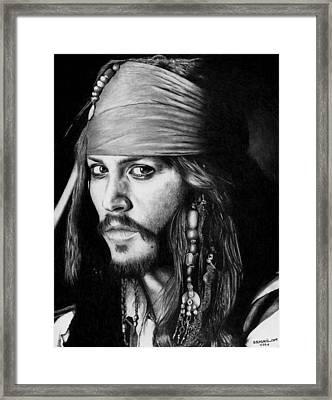 Jack Sparrow Framed Print by Rick Fortson