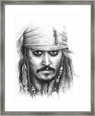 Jack Sparrow Framed Print by Ryan Jones