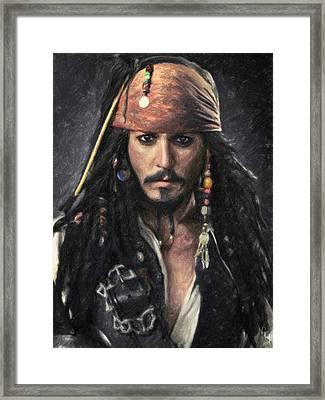 Jack Sparrow Framed Print by Taylan Apukovska