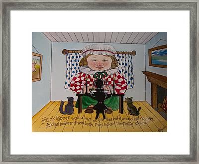 Jack Spratt Framed Print by Victoria Heryet
