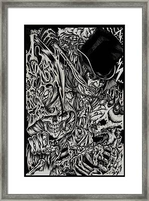 Jack The Ripper Framed Print by N Emesis