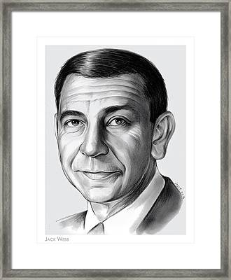 Jack Webb Framed Print by Greg Joens
