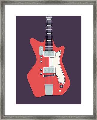Jack White Jb Hutto Montgomery Ward Airline Guitar - Black Framed Print