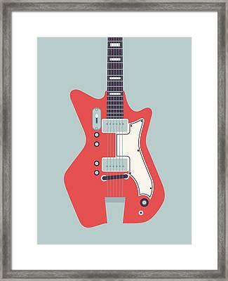 Jack White Jb Hutto Montgomery Ward Airline Guitar - Grey Framed Print