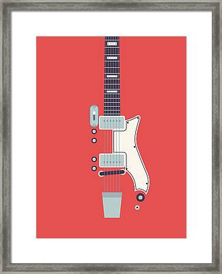 Jack White Jb Hutto Montgomery Ward Airline Guitar - Red Framed Print