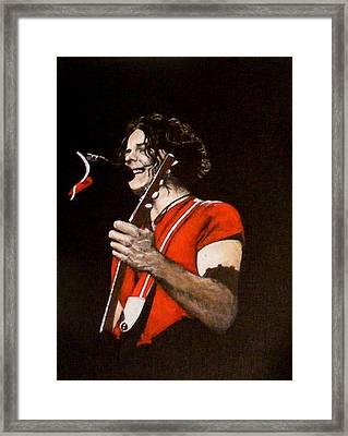 Jack White Framed Print by Luke Morrison