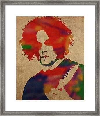 Jack White Watercolor Portrait Framed Print