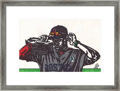 Jackie Bradley Jr Framed Print by Jeremiah Colley