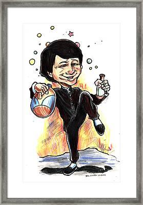 Jackie Chan Drunken Master Framed Print by John Ashton Golden