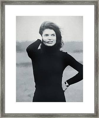 Jackie Kennedy - Painting Framed Print