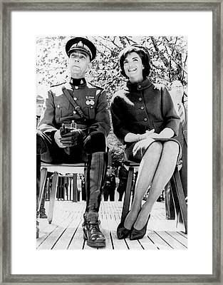 Jackie Reviews Rcmp Framed Print by Underwood Archives