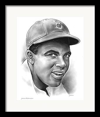 Major League Baseball Drawings Framed Prints