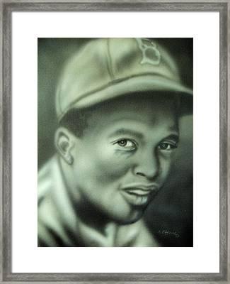 Jackie Robinson Framed Print by Scott Easom