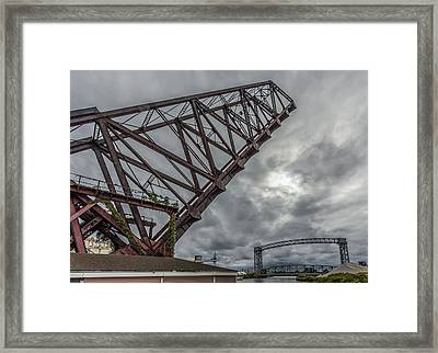 Jackknife Bridge To The Clouds Framed Print