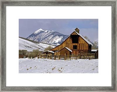 Jack's Cabin Barn Framed Print