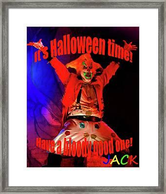 Jacks Halloween Card Framed Print by David Lee Thompson