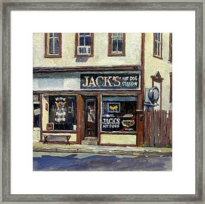 Jack's Hot Dogs North Adams Framed Print